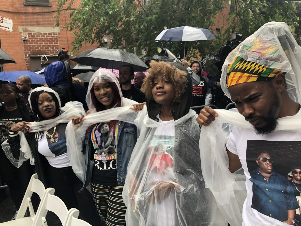 "Fans from boston celebrate Christopher ""Notorious B.I.G."" Wallace Way"