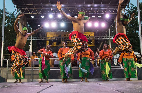 Dancers at the African Art Festival