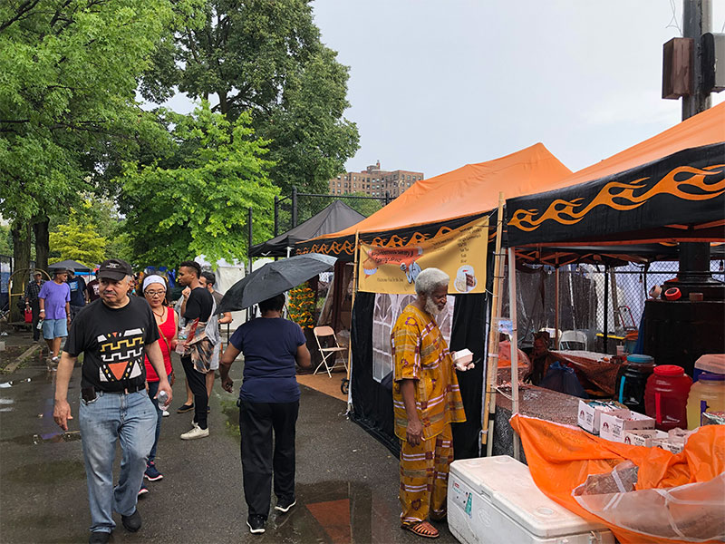 Vendors at the African Art Festival